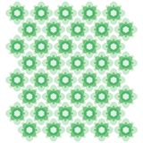 Ornamento geométrico verde Modelo inconsútil del vector libre illustration