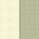 Ornamento geométricos do verde azeitona Jogo de testes padrões sem emenda Foto de Stock