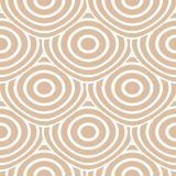 Ornamento geometrico beige e bianco Reticolo senza giunte Fotografie Stock Libere da Diritti