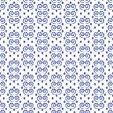 Ornamento geometrico con gli elementi a spirale Immagini Stock Libere da Diritti