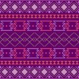ornamento geometrico di folclore di kat Struttura etnica tribale di vettore Modello a strisce senza cuciture nello stile azteco F royalty illustrazione gratis
