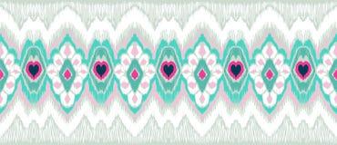 Ornamento geometrico di folclore di WebIkat Struttura etnica tribale di vettore Modello a strisce senza cuciture nello stile azte illustrazione vettoriale