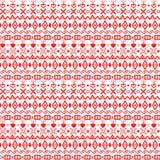 Ornamento geometrico di inverno Rombi rossi, cuori, quadrati, incrocio royalty illustrazione gratis