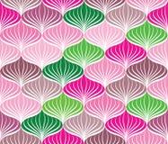 Ornamento geometrico floreale del modello senza cuciture di Abstact Fotografie Stock