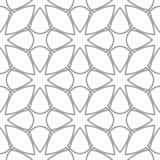 Ornamento geometrico grigio chiaro Reticolo senza giunte Fotografie Stock