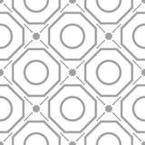 Ornamento geometrico grigio chiaro Reticolo senza giunte illustrazione vettoriale
