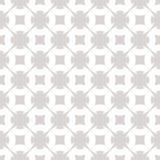 Ornamento geometrico grigio e bianco Modello senza cuciture astratto con le forme floreali illustrazione vettoriale