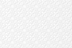 Ornamento geometrico islamico 3d Reticolo arabo Modello alla rinfusa del Libro Bianco L'ombra di caduta Cartone Ramadan Kareem Ei royalty illustrazione gratis