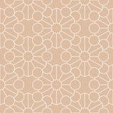Ornamento geometrico Modello senza cuciture beige e bianco Fotografia Stock