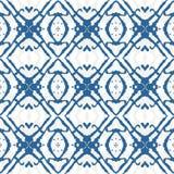 Ornamento geometrico stampato in neretto in blu Fotografia Stock