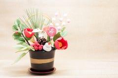 Ornamento giapponese di festa per il giorno dei nuovi anni Fotografia Stock Libera da Diritti