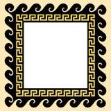 Ornamento griego en un marco cuadrado Ilustración del vector Foto de archivo libre de regalías