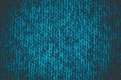 Ornamento hecho punto lanas azulverdes brillantes Foto de archivo libre de regalías