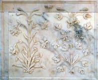 Ornamento hermoso en la pared del palacio en Amber Fort en Jaipur Fotos de archivo
