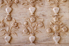 Ornamento hermoso en la pared del palacio en Amber Fort en Jaipur Imagen de archivo