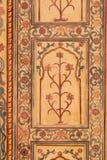 Ornamento hermoso en la pared del palacio en Amber Fort en Jaipur Fotografía de archivo libre de regalías