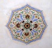 Ornamento hermoso en la pared del palacio en Amber Fort en Jaipur Imágenes de archivo libres de regalías