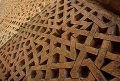 Ornamento hexagonal geométrico tradicional de la estrella - ejemplo hermoso del arte medieval de Asia Central, detalles del mauso imágenes de archivo libres de regalías