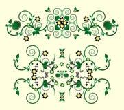 Ornamento horizontal com flor Fotografia de Stock Royalty Free