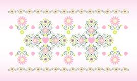 Ornamento horizontal com flor Fotos de Stock Royalty Free