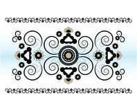 Ornamento horizontal com flor Fotos de Stock Royalty Free