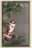 Ornamento il Babbo Natale dell'albero di Natale dell'annata Fotografia Stock Libera da Diritti
