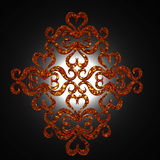 Ornamento iluminado parte traseira Fotografia de Stock Royalty Free