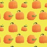 Ornamento inconsútil de Autumn Harvest Concept Season Fall del fondo del modelo de la calabaza Imagen de archivo libre de regalías