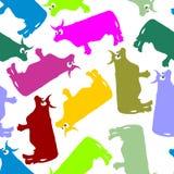 Ornamento inconsútil del color de la vaca Modelo del vector de animales ilustración del vector