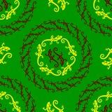Ornamento inconsútil del lagarto del vector Foto de archivo libre de regalías