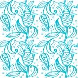 Ornamento inconsútil en azul Libre Illustration