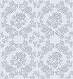 Ornamento inconsútil floral, gris Imagen de archivo libre de regalías