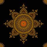 Ornamento inconsútil redondo con las mandalas Elemento geométrico del círculo hecho en vector stock de ilustración