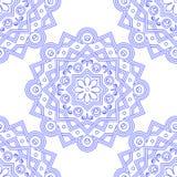 Ornamento indiano azul do vintage Teste padrão sem emenda da mandala azul Ilustração do vetor ilustração royalty free