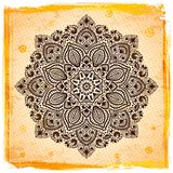 Ornamento indiano bonito com fundo do vintage Foto de Stock Royalty Free