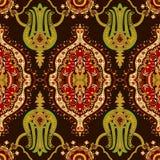 Ornamento indiano, clipart di vettore Reticolo etnico senza giunte Illustrazione variopinta per carta da imballaggio, carta da pa illustrazione vettoriale