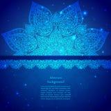 Ornamento indiano d'annata blu Fotografie Stock