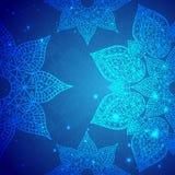 Ornamento indiano d'annata blu Immagine Stock Libera da Diritti