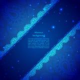 Ornamento indiano d'annata blu Immagini Stock