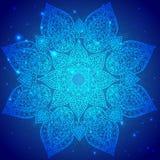 Ornamento indiano d'annata blu Fotografia Stock Libera da Diritti