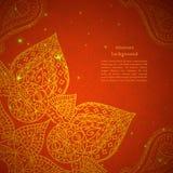 Ornamento indiano d'annata con le particelle Immagini Stock