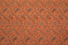 Ornamento indiano del tessuto del cashmere Fotografia Stock