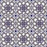 Ornamento indiano e orientale senza cuciture elegante Contesto decorativo dell'ornamento per tessuto, tessuto, carta da imballagg fotografie stock libere da diritti