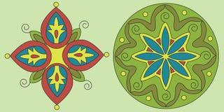 Ornamento indiano natale, mandala. Immagini Stock Libere da Diritti