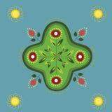 Ornamento indiano natale, mandala. fotografia stock libera da diritti