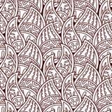 Ornamento indiano senza cuciture, stile del hennè Progettazione orientale di lusso illustrazione di stock