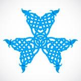 Ornamento indigeno blu della stella Fotografia Stock Libera da Diritti