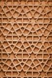 Ornamento indio con adornos árabes Talla de piedra de Agra Imagenes de archivo