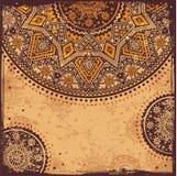 Ornamento indio del oro ilustración del vector