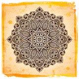 Ornamento indio hermoso con el fondo del vintage Foto de archivo libre de regalías